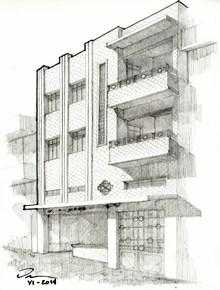 54. Edificio en la calle Morelos