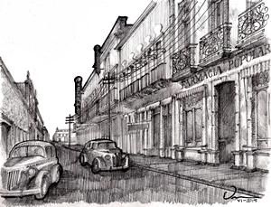 107. Calle Juárez en los años cincuenta