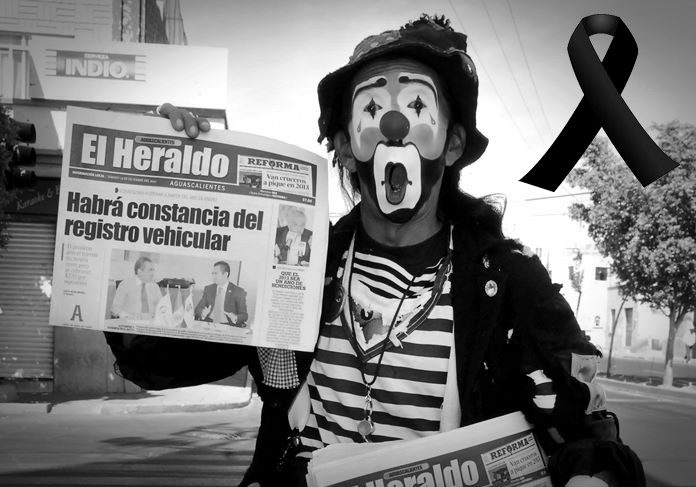 Murió Payaso Vagabundo — Tristeza en Aguascalientes