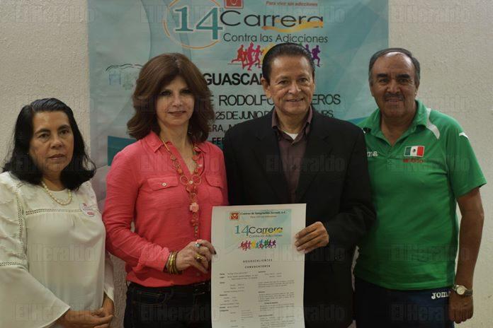 Convocan IDH, CIJ e ISSSTE a Carrera Contra las Adicciones
