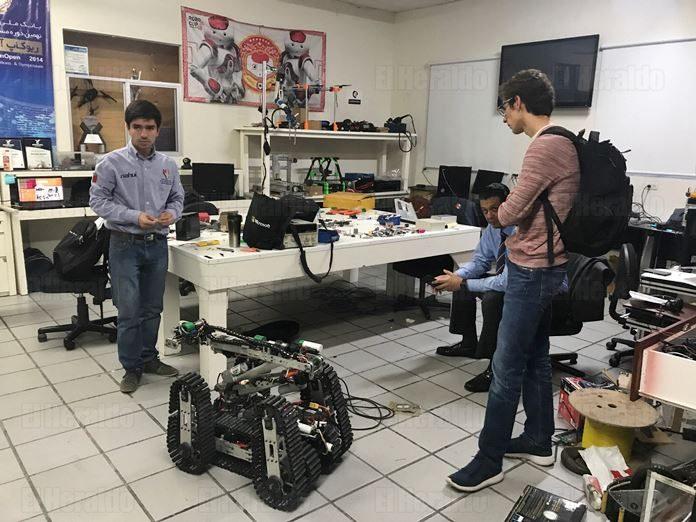 La UP manda un robot de rescate para ayudar a los damnificados