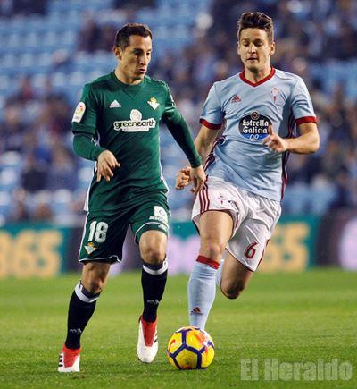 Celta de Vigo vence 2-1 al Real Betis