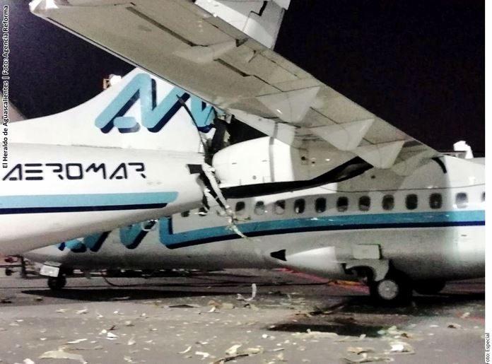 Involucrados en un percance, dos aviones de Aeromar